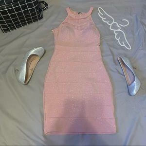 Pink Glittery Prom Dress